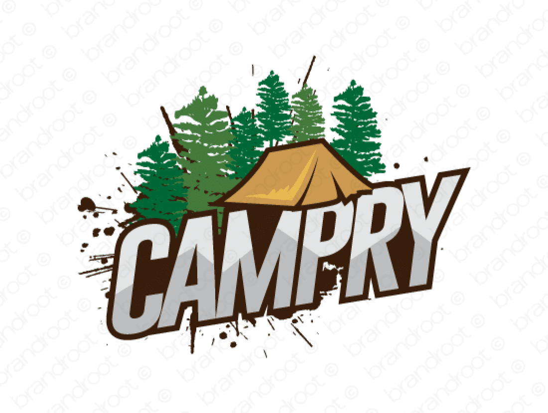 Campry logo design included with business name and domain name, Campry.com.
