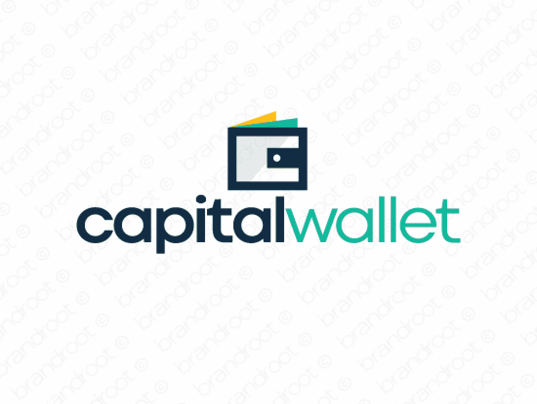 Capitalwallet logo design included with business name and domain name, Capitalwallet.com.