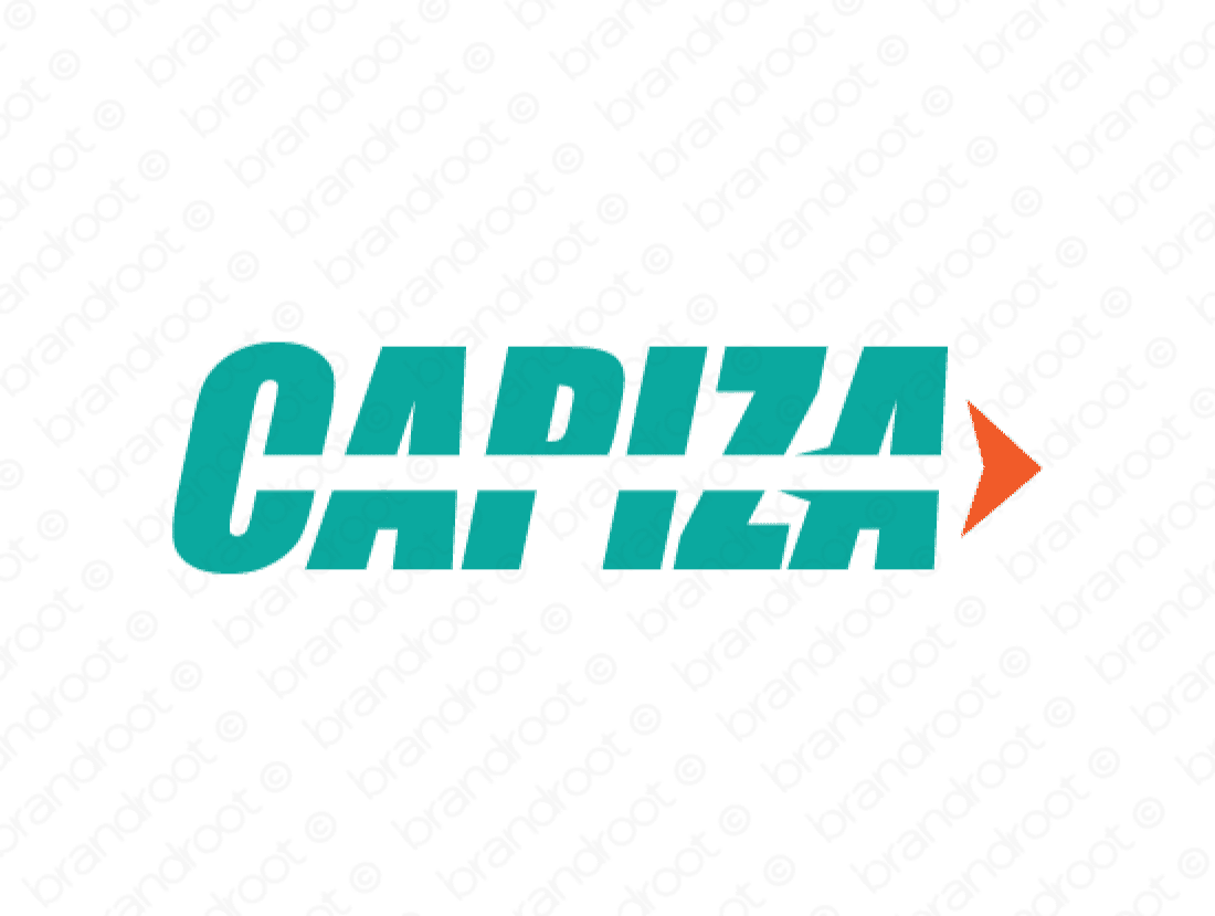 Capiza logo design included with business name and domain name, Capiza.com.