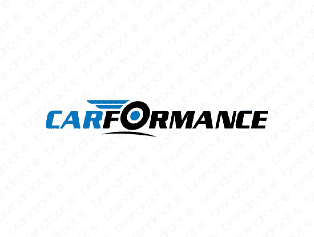 Carformance logo design included with business name and domain name, Carformance.com.