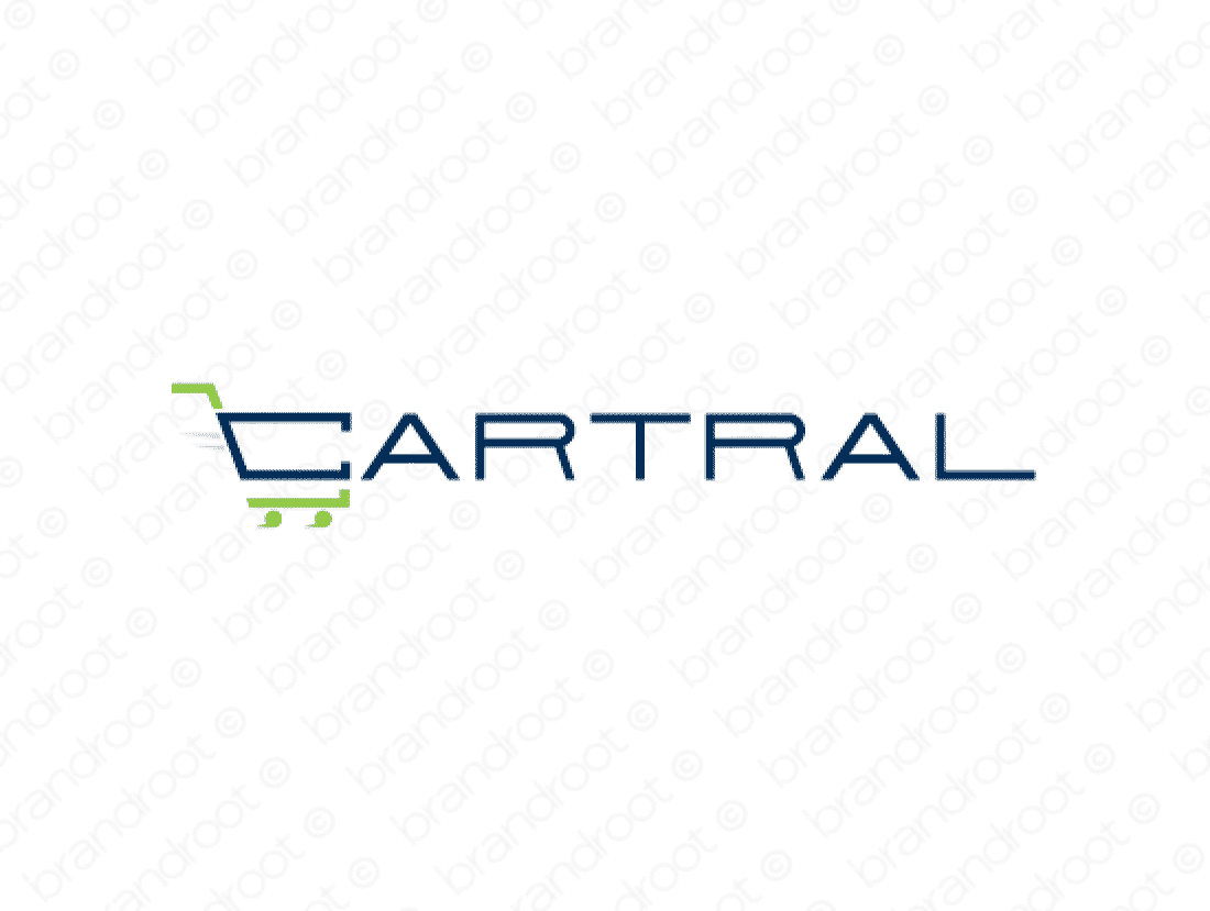 Cartral logo design included with business name and domain name, Cartral.com.