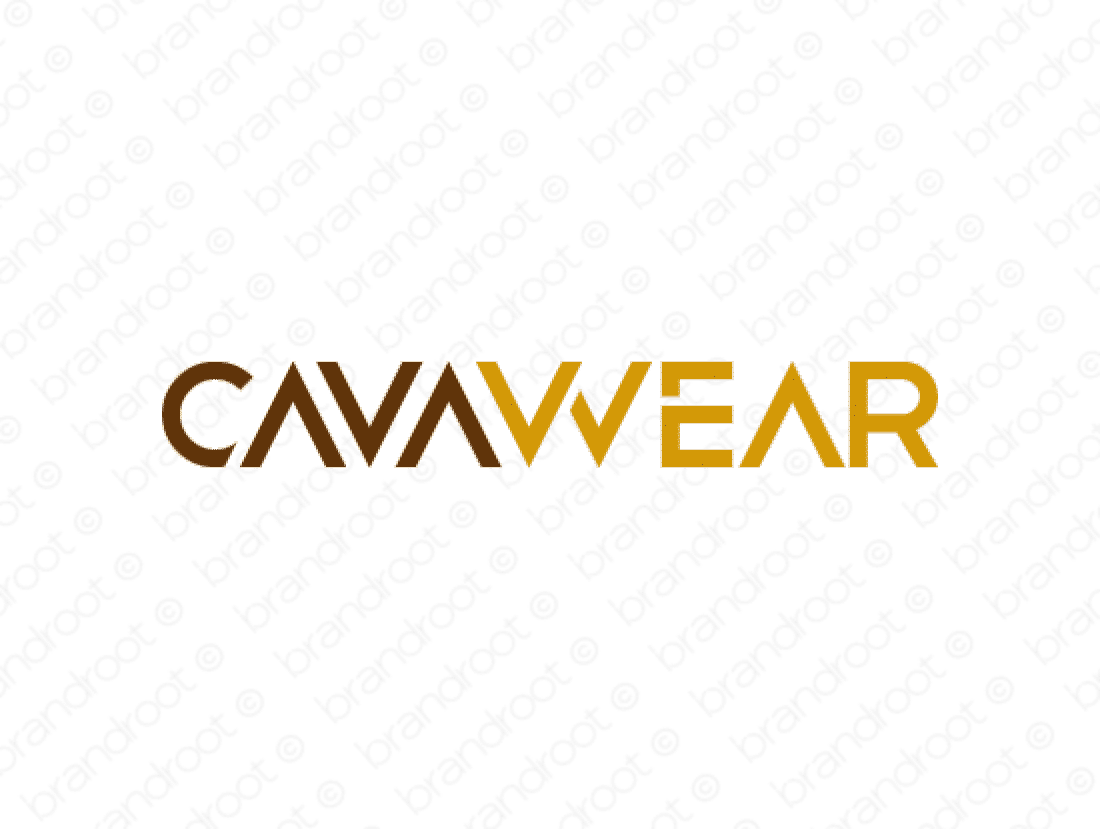 Cavawear logo design included with business name and domain name, Cavawear.com.