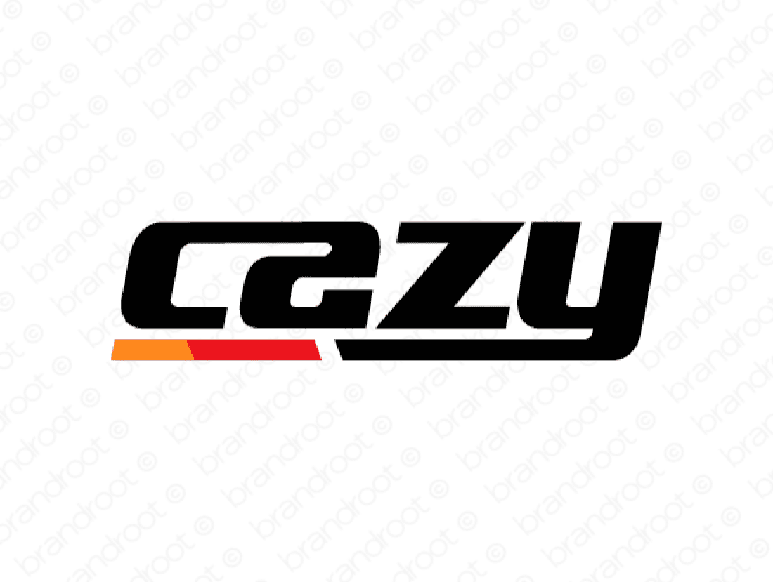 Cazy logo design included with business name and domain name, Cazy.com.