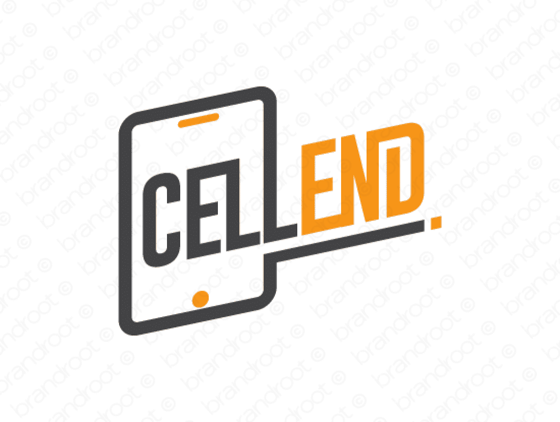 Cellend logo design included with business name and domain name, Cellend.com.
