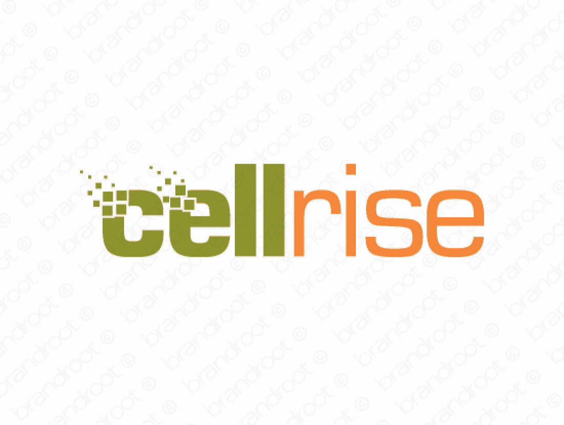Cellrise logo design included with business name and domain name, Cellrise.com.