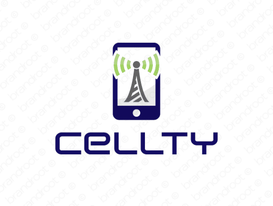 Cellty logo design included with business name and domain name, Cellty.com.