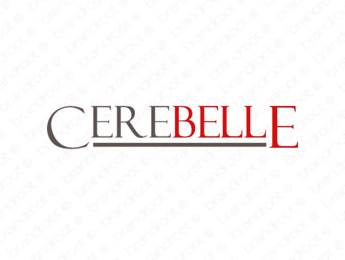 Cerebelle logo design included with business name and domain name, Cerebelle.com.