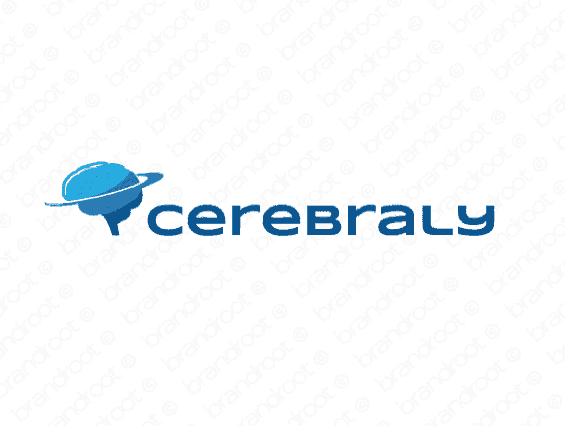 Cerebraly logo design included with business name and domain name, Cerebraly.com.