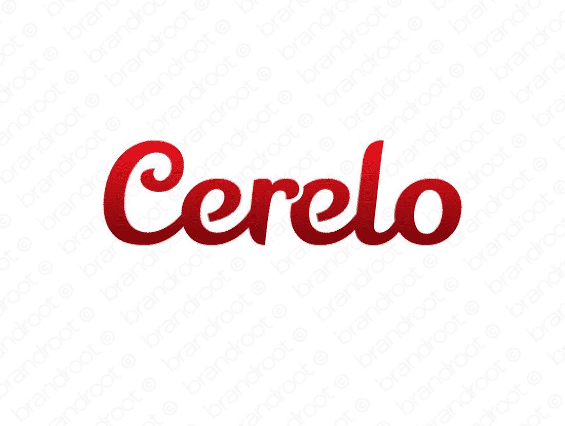 Cerelo logo design included with business name and domain name, Cerelo.com.