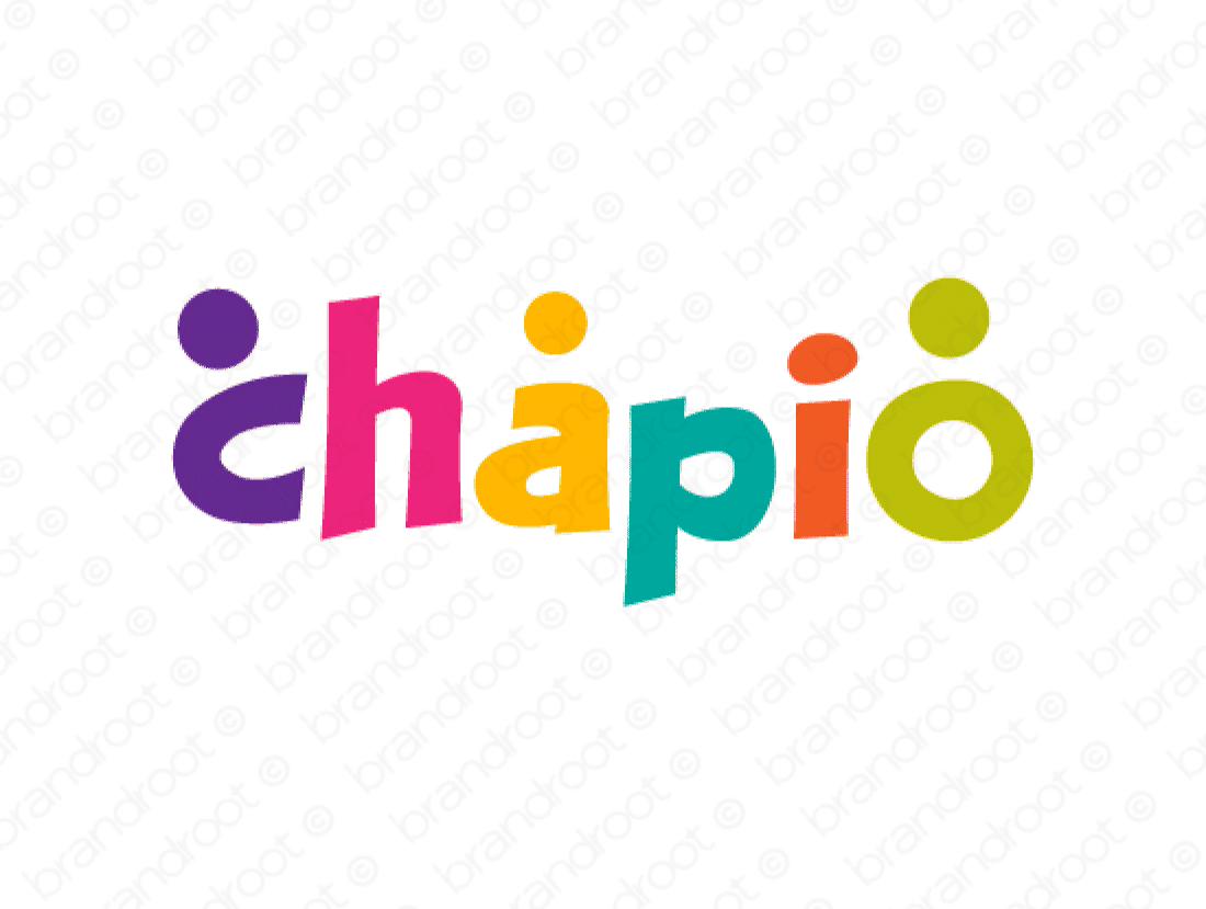 Chapio logo design included with business name and domain name, Chapio.com.