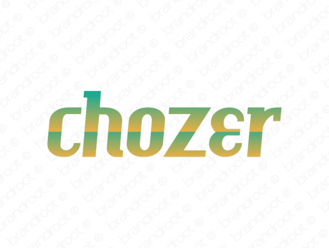 Chozer logo design included with business name and domain name, Chozer.com.
