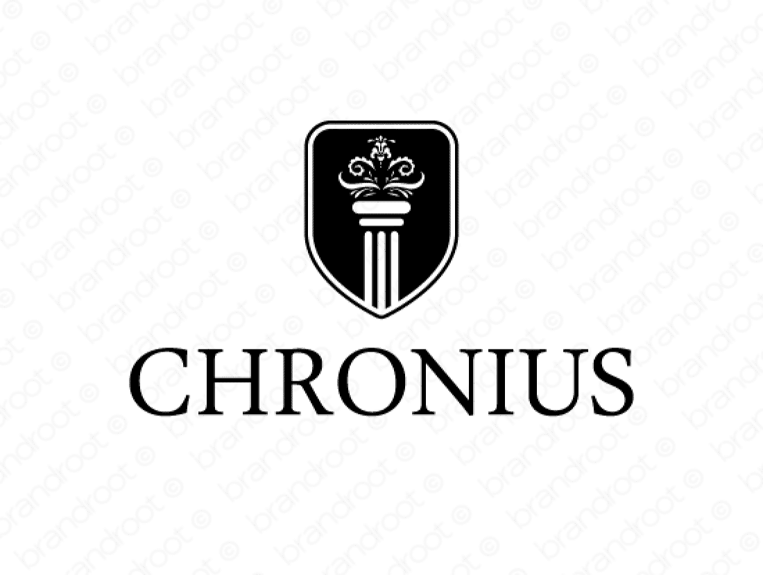 Chronius logo design included with business name and domain name, Chronius.com.