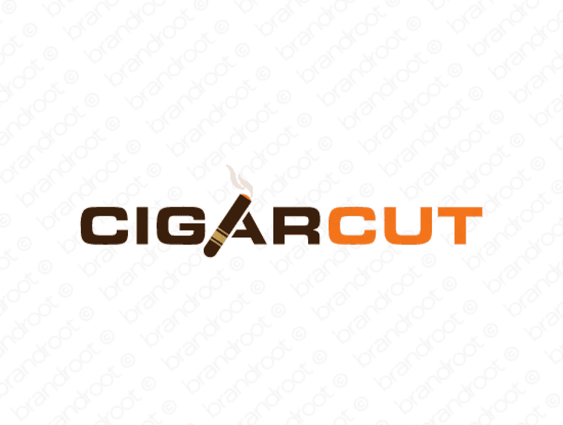 Cigarcut logo design included with business name and domain name, Cigarcut.com.