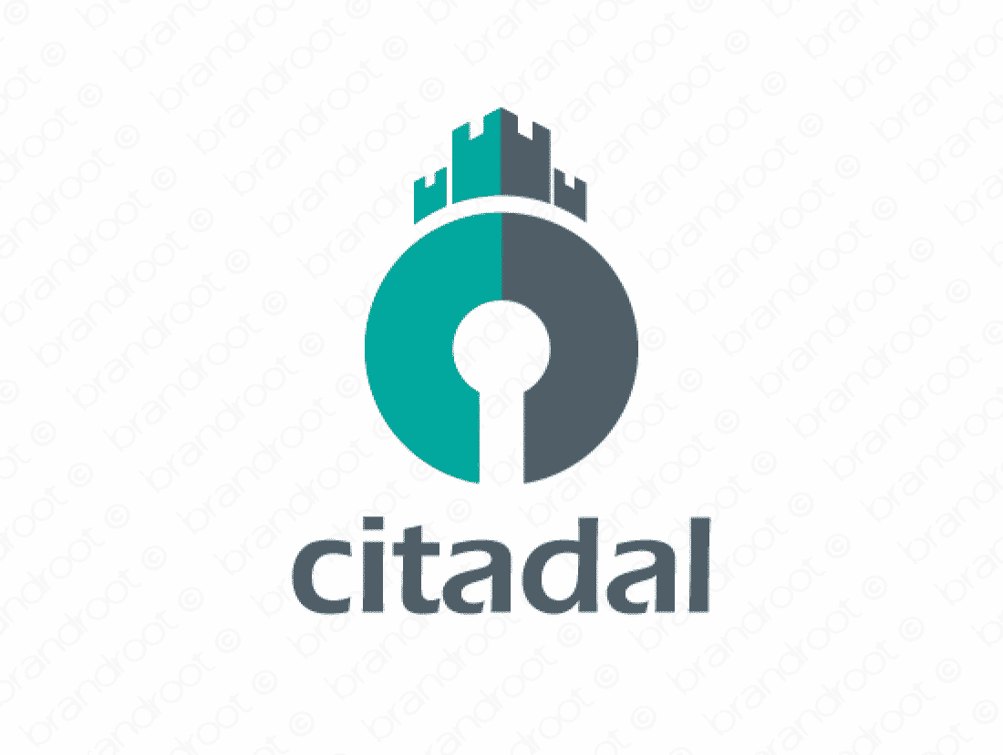 Citadal logo design included with business name and domain name, Citadal.com.