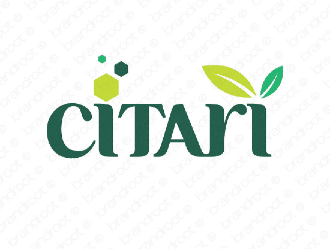 Citari logo design included with business name and domain name, Citari.com.