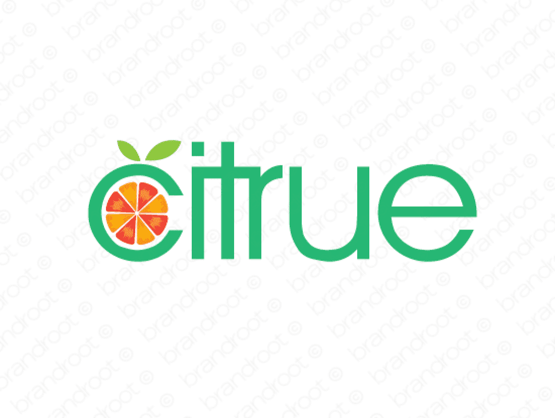 Citrue logo design included with business name and domain name, Citrue.com.