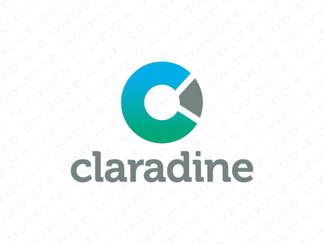 Claradine logo design included with business name and domain name, Claradine.com.