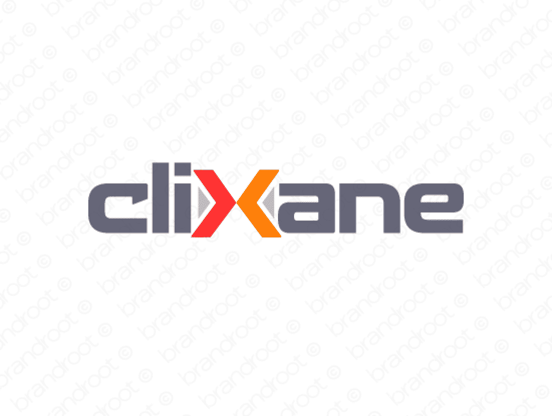 Clixane logo design included with business name and domain name, Clixane.com.