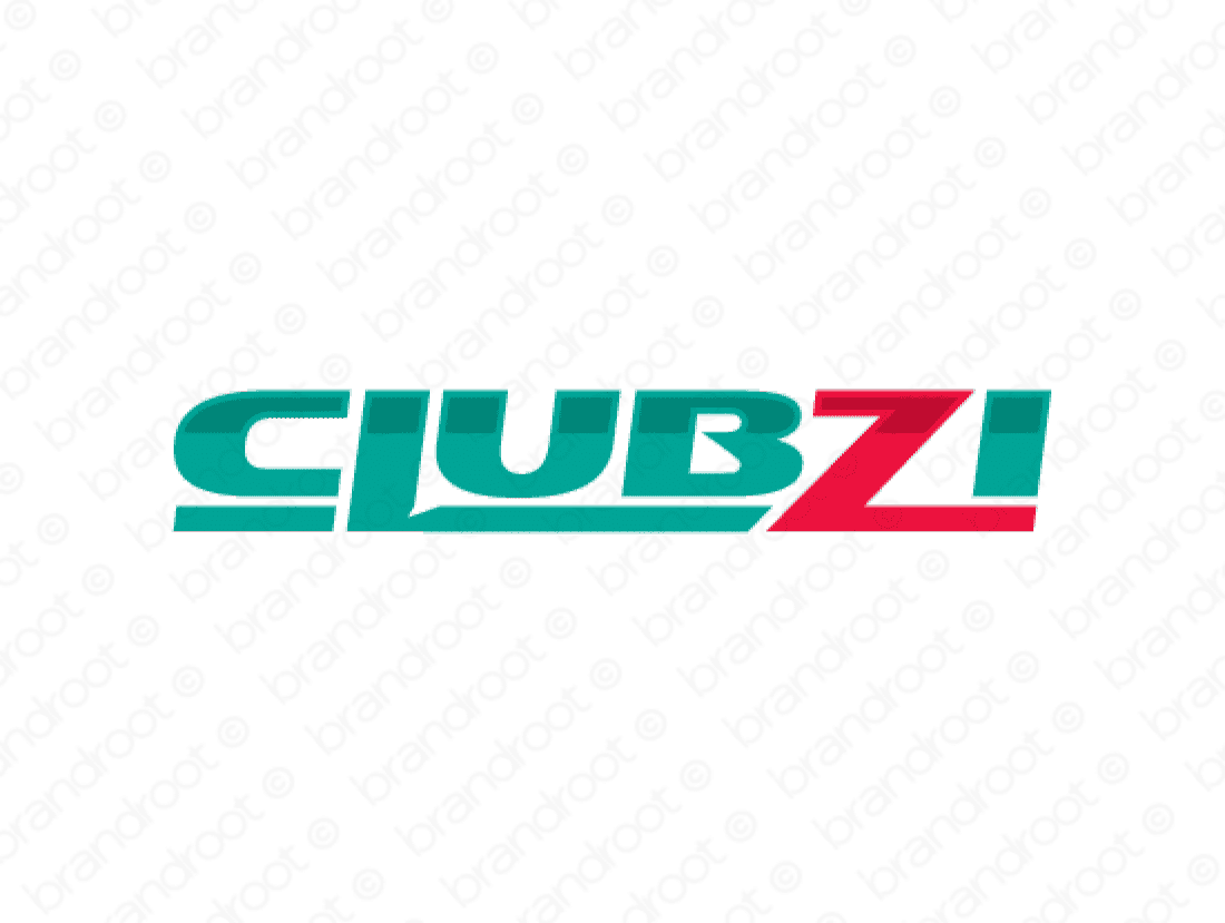 Clubzi logo design included with business name and domain name, Clubzi.com.