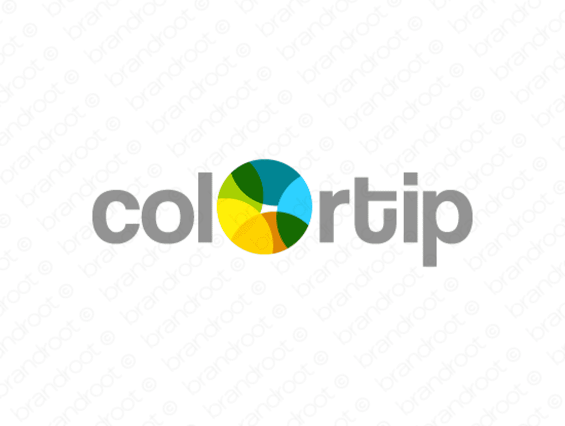Colortip logo design included with business name and domain name, Colortip.com.