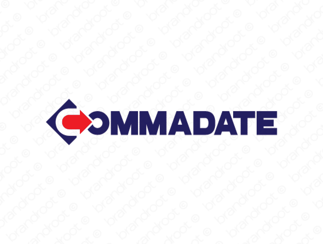 Commadate logo design included with business name and domain name, Commadate.com.