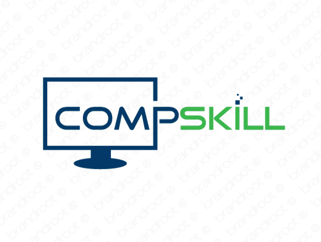 Compskill logo design included with business name and domain name, Compskill.com.