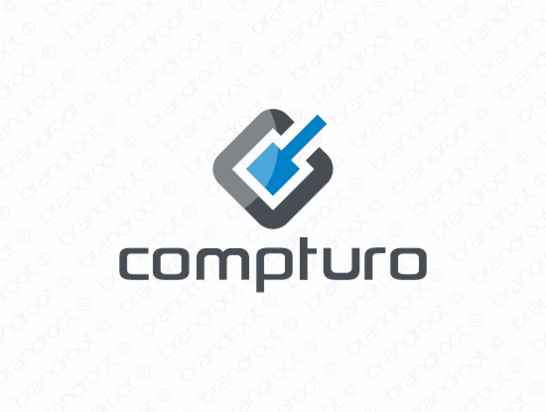 Compturo logo design included with business name and domain name, Compturo.com.