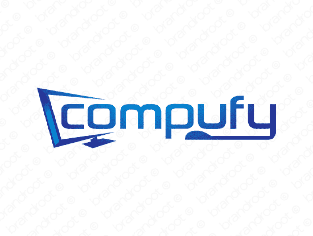 Compufy logo design included with business name and domain name, Compufy.com.