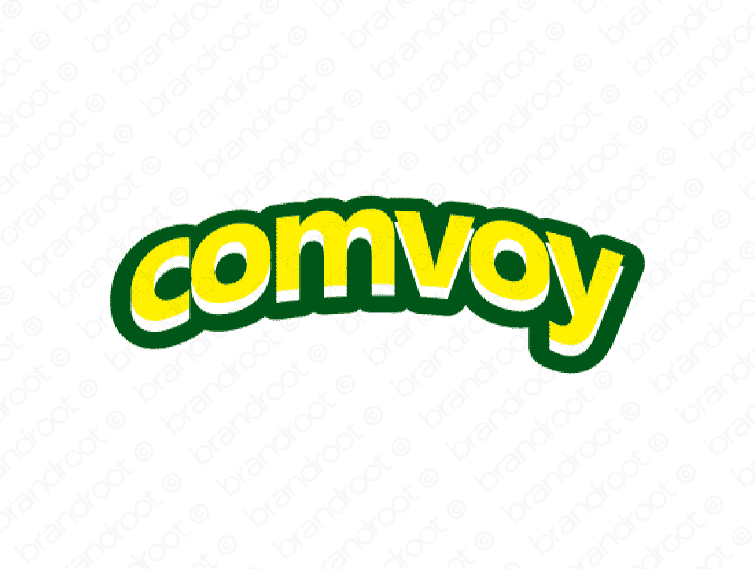 Comvoy logo design included with business name and domain name, Comvoy.com.