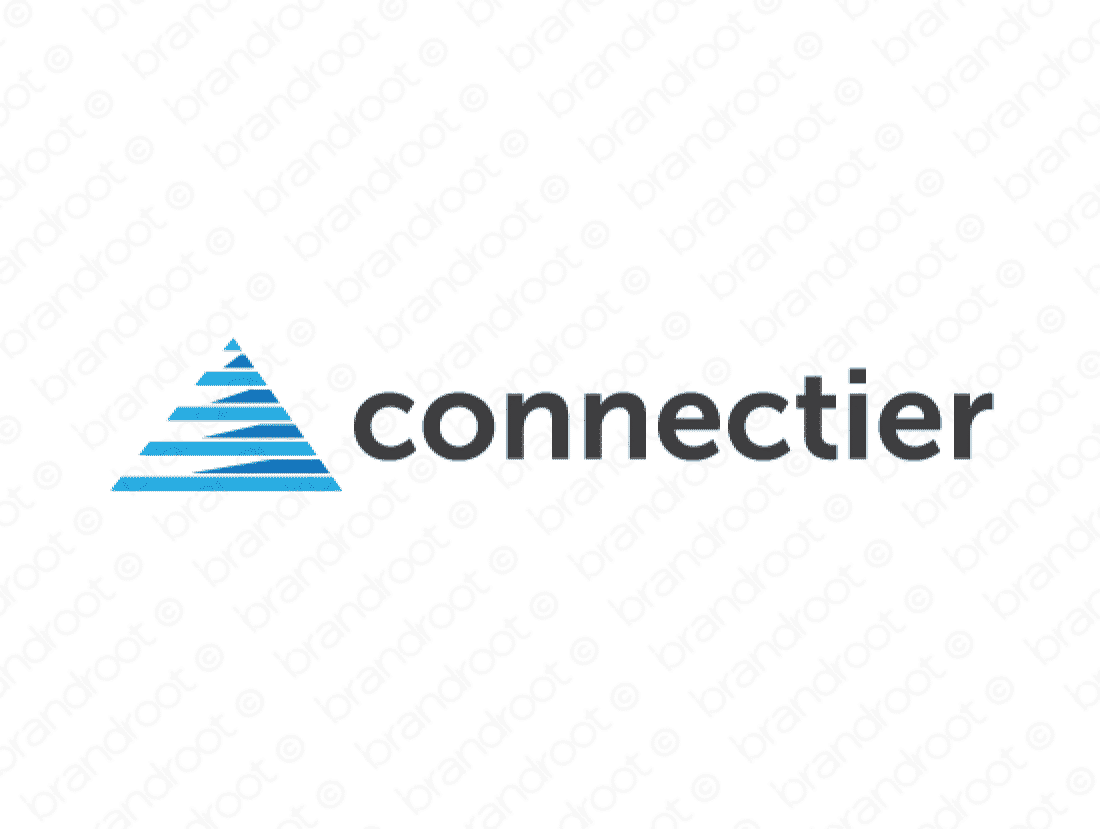 Connectier logo design included with business name and domain name, Connectier.com.
