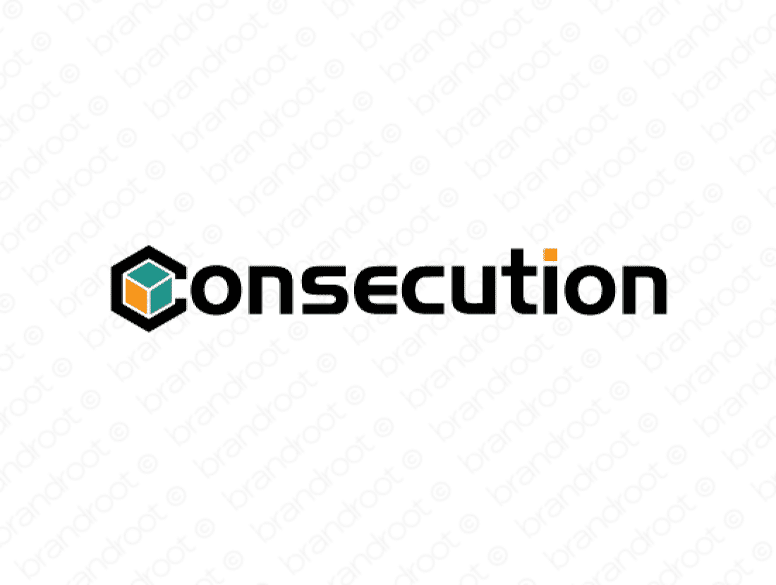 Consecution logo design included with business name and domain name, Consecution.com.