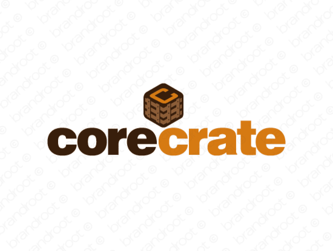 Corecrate logo design included with business name and domain name, Corecrate.com.