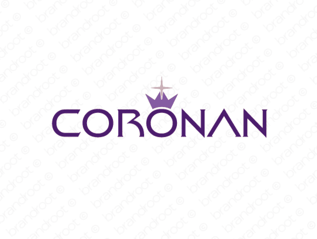 Coronan logo design included with business name and domain name, Coronan.com.