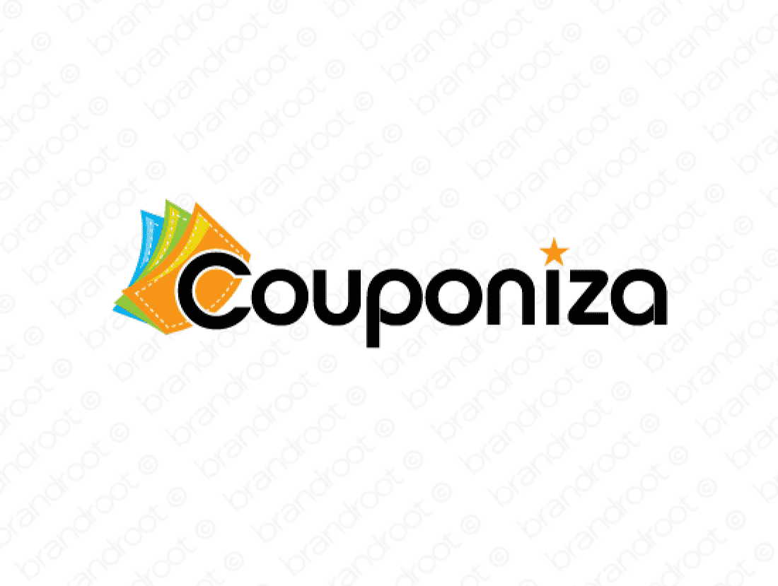 Couponiza logo design included with business name and domain name, Couponiza.com.