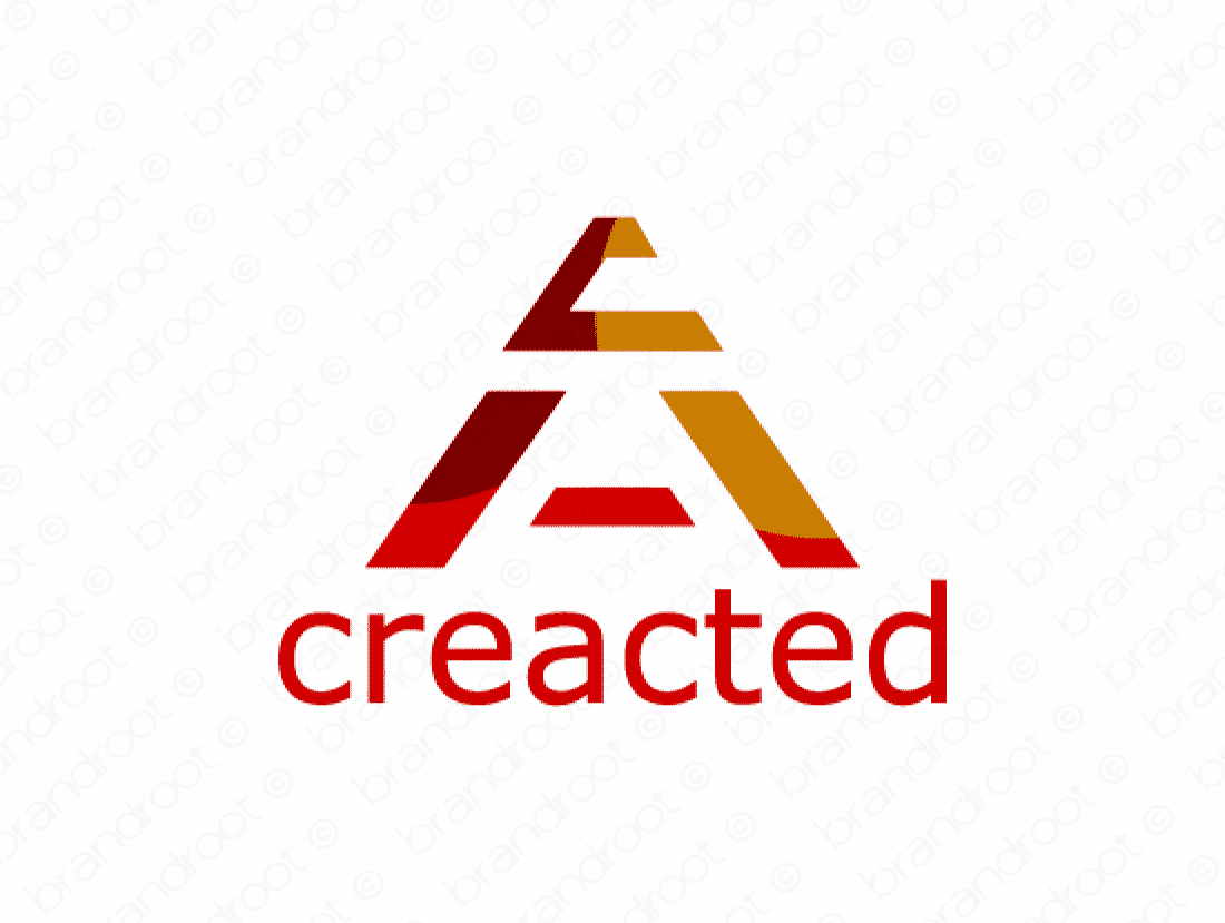 Creacted logo design included with business name and domain name, Creacted.com.