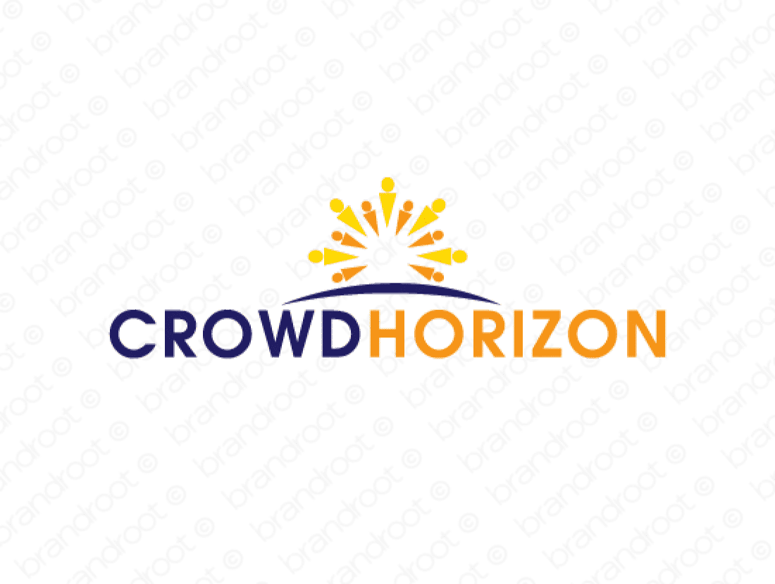 Crowdhorizon logo design included with business name and domain name, Crowdhorizon.com.