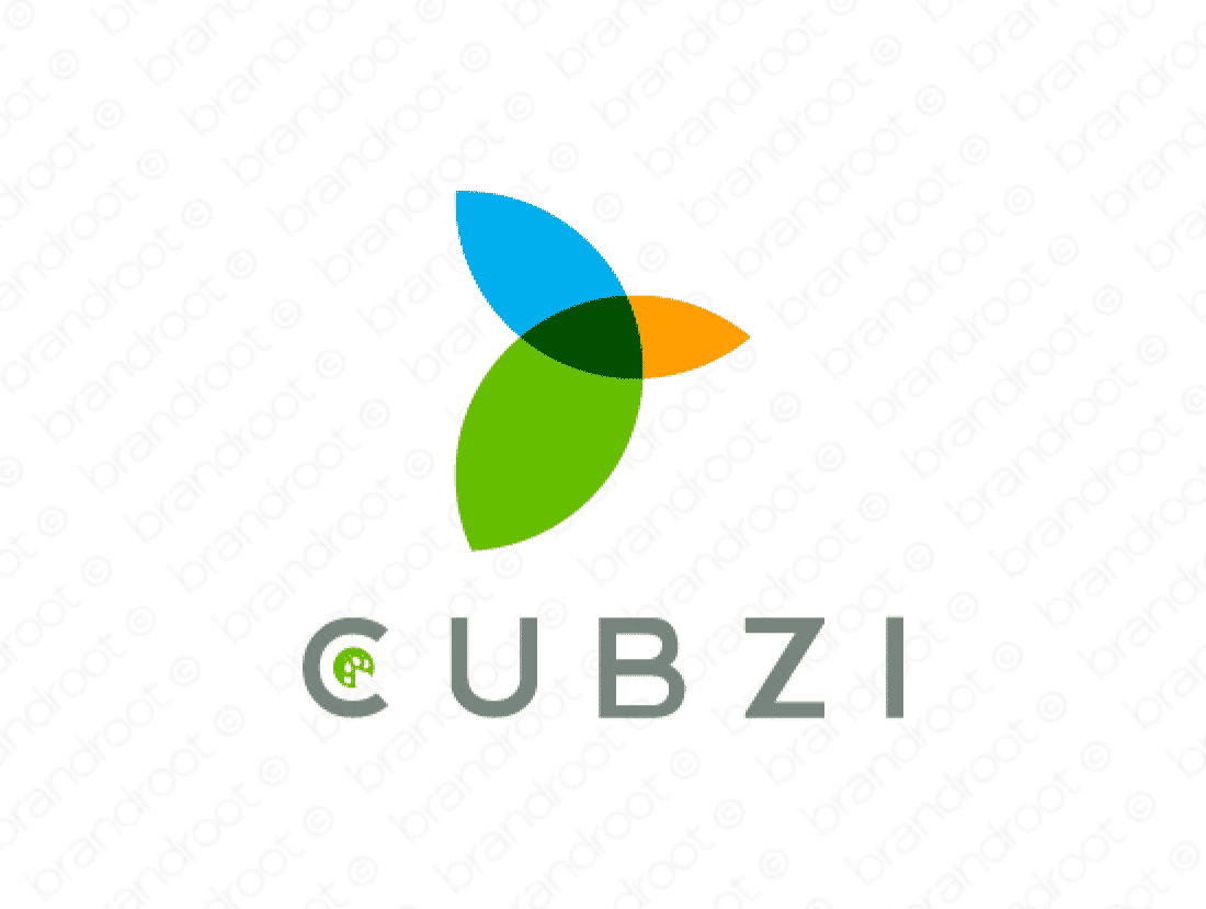 Cubzi logo design included with business name and domain name, Cubzi.com.