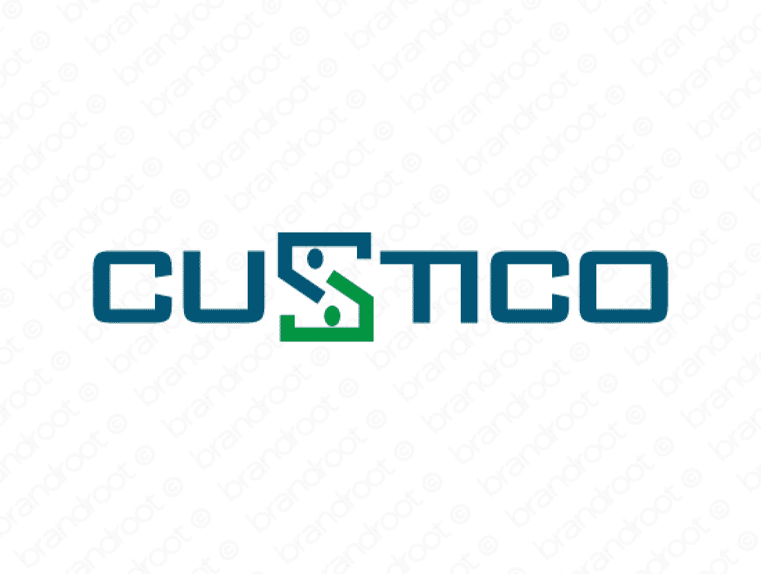 Custico logo design included with business name and domain name, Custico.com.