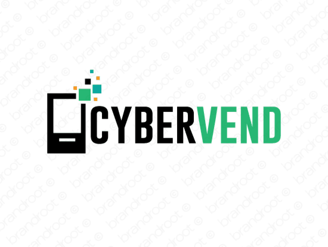 Cybervend logo design included with business name and domain name, Cybervend.com.