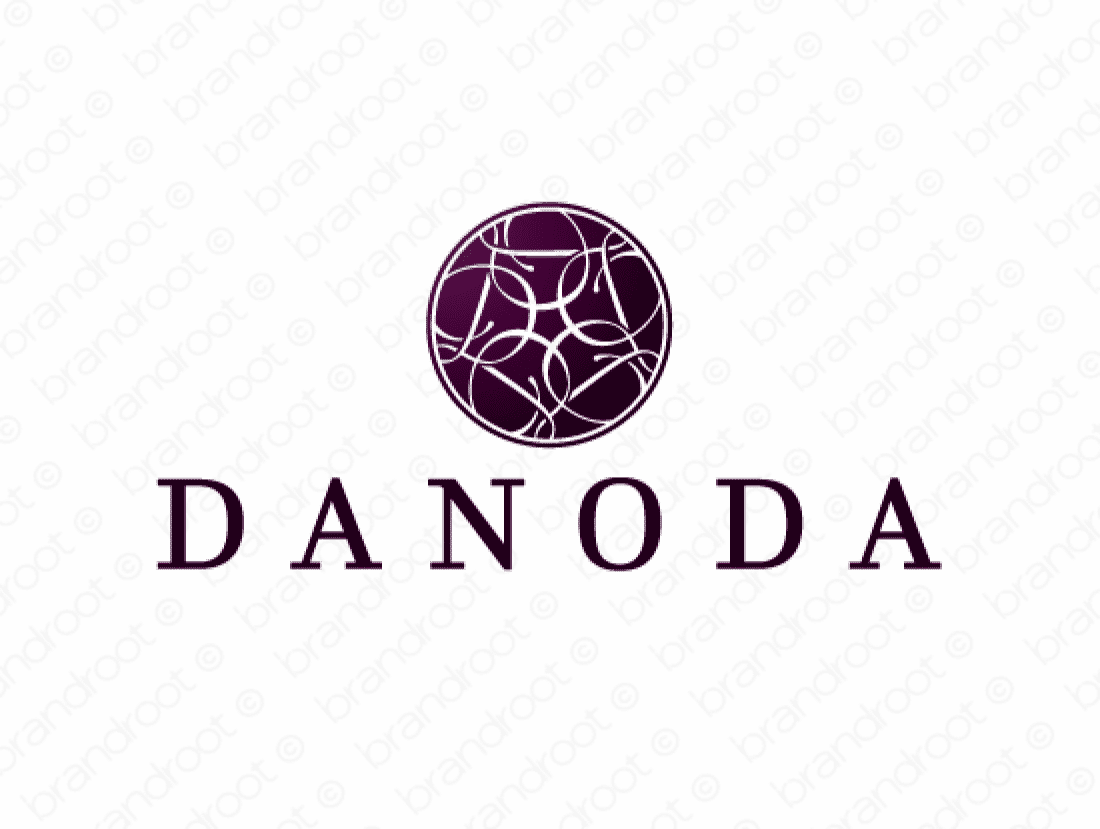 Danoda logo design included with business name and domain name, Danoda.com.