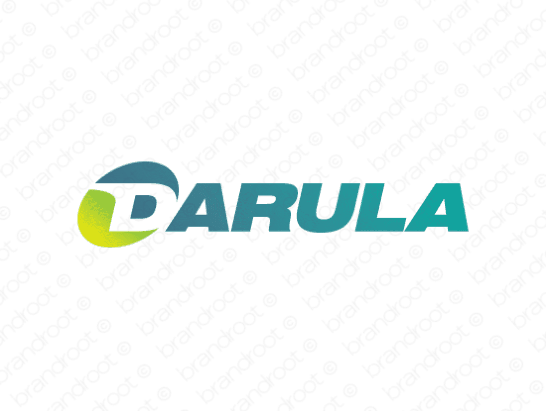 Darula logo design included with business name and domain name, Darula.com.