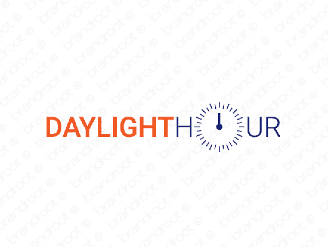 Daylighthour logo design included with business name and domain name, Daylighthour.com.