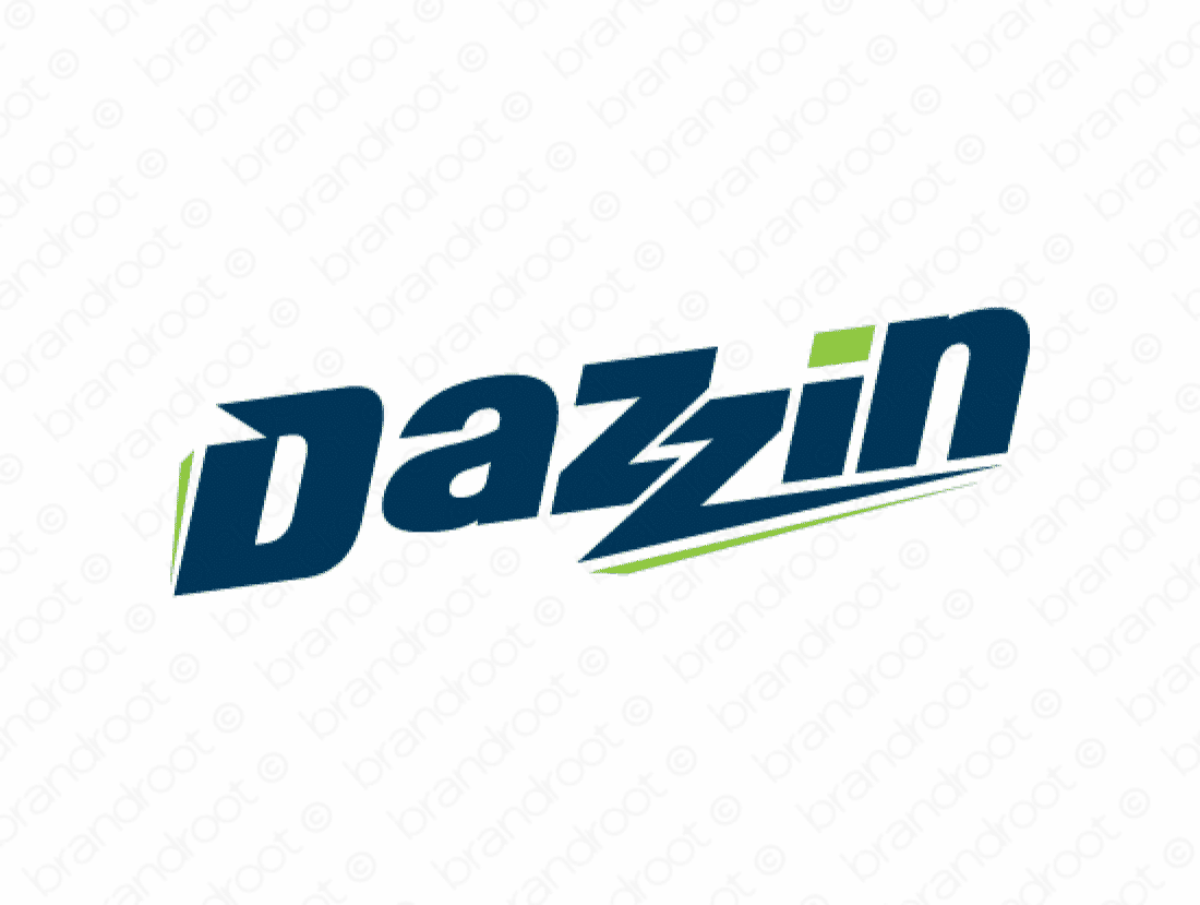 Dazzin logo design included with business name and domain name, Dazzin.com.