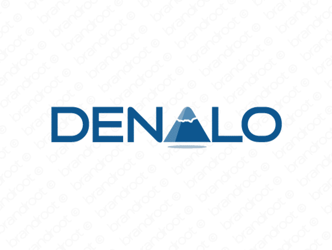 Denalo logo design included with business name and domain name, Denalo.com.