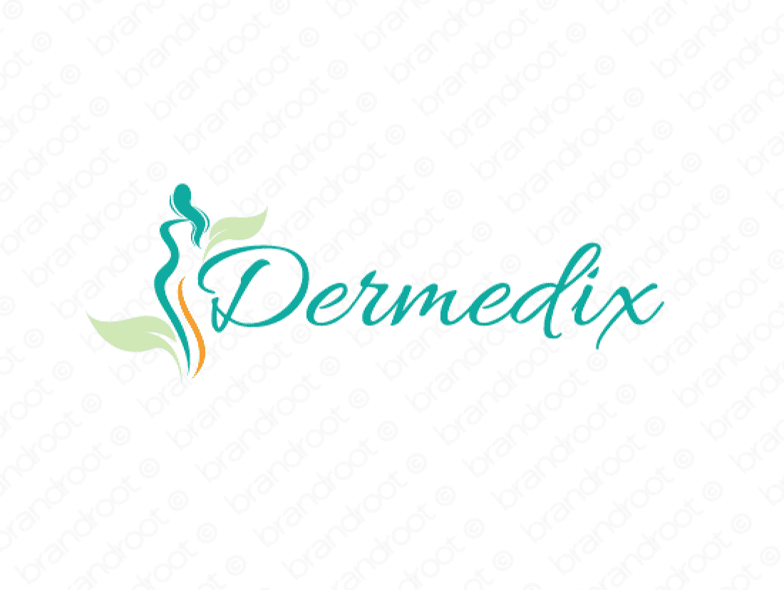 Dermedix logo design included with business name and domain name, Dermedix.com.