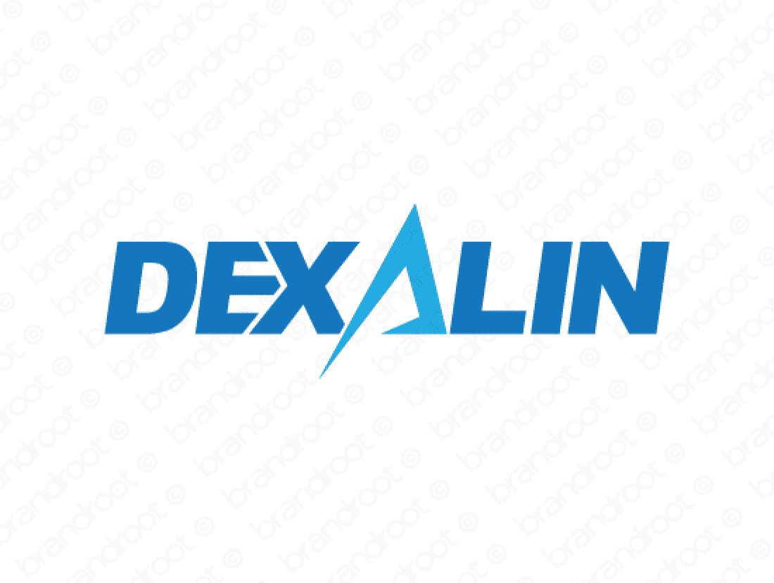 Dexalin logo design included with business name and domain name, Dexalin.com.