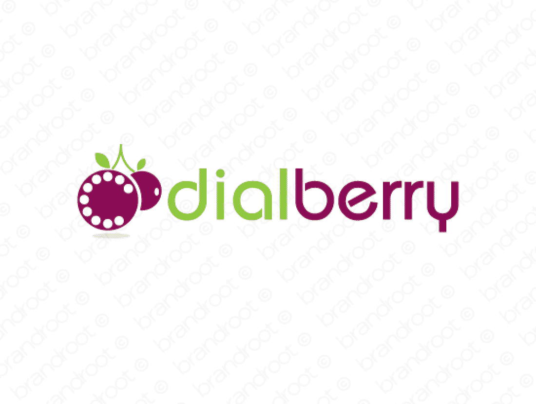 Dialberry logo design included with business name and domain name, Dialberry.com.