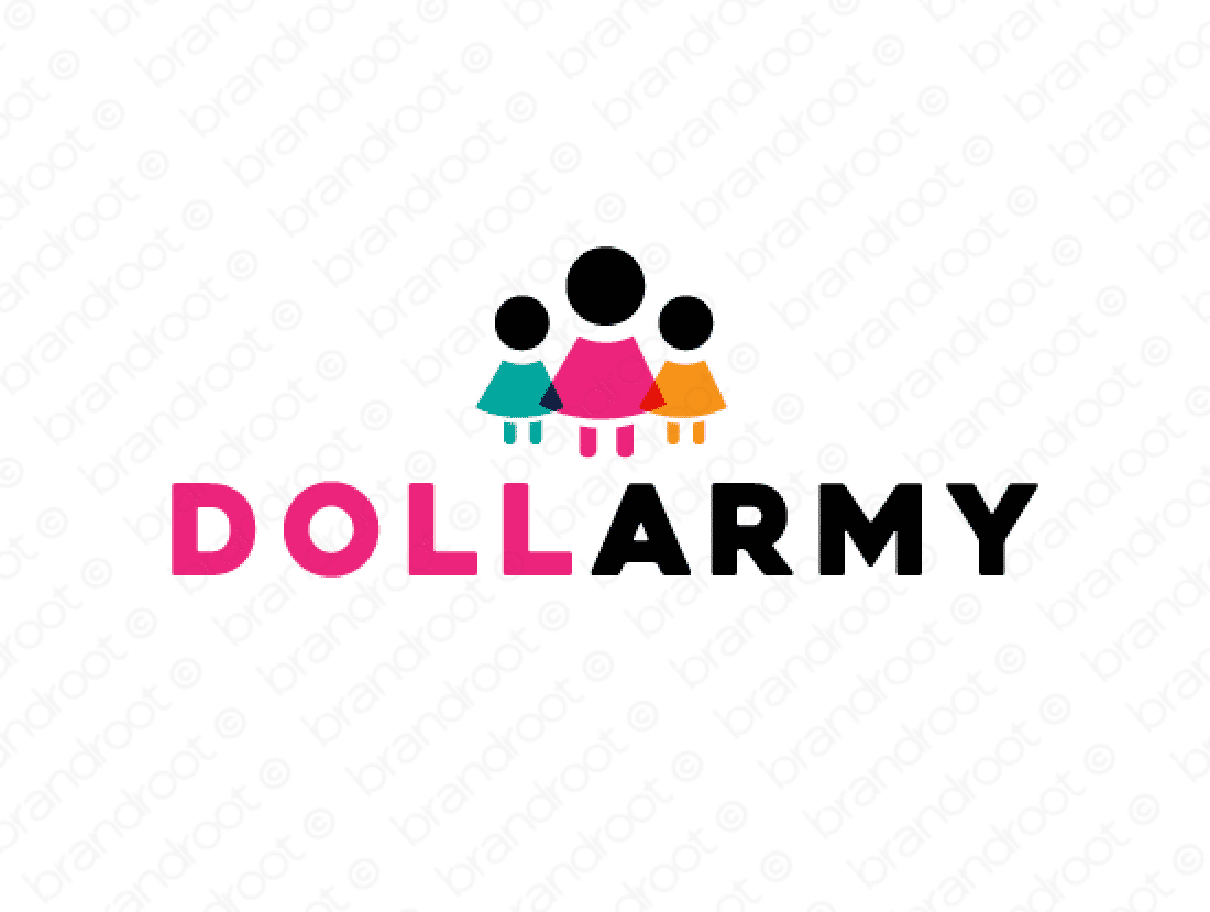 Dollarmy logo design included with business name and domain name, Dollarmy.com.