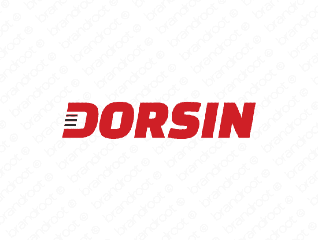 Dorsin logo design included with business name and domain name, Dorsin.com.