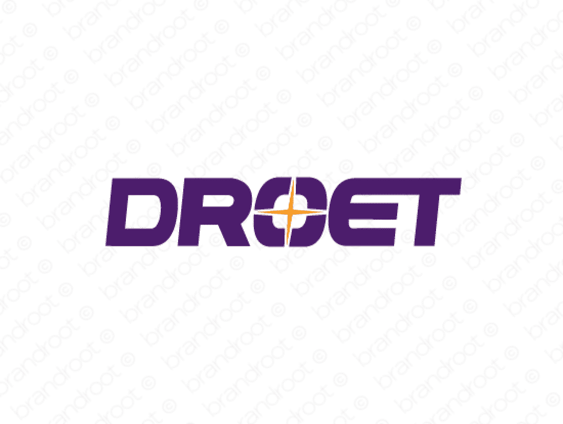 Droet logo design included with business name and domain name, Droet.com.